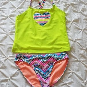 OP Wave Zone Tribal Heart Tankini